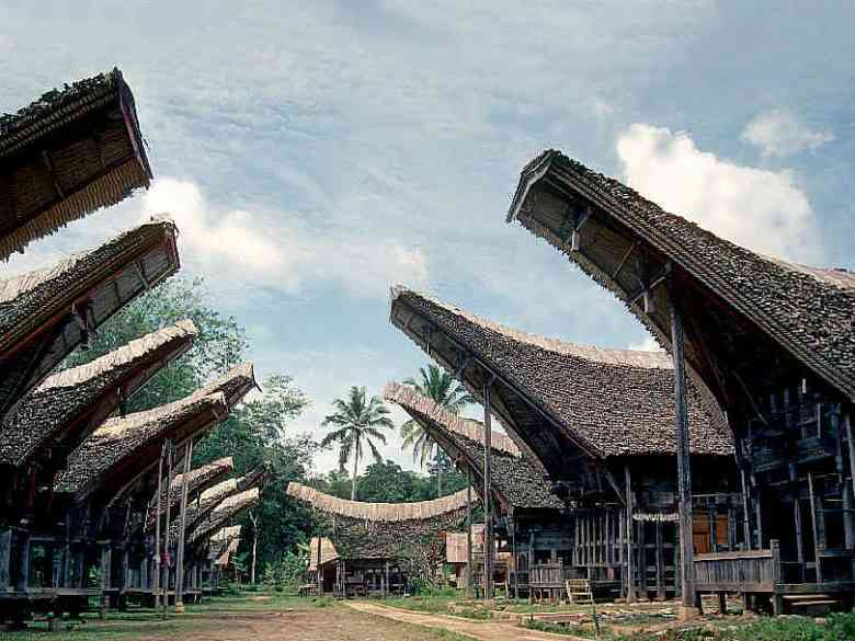 sulawesi indonesia abitazioni tipiche