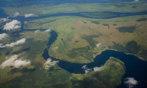 Sul fiume africano Congo
