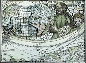 Amerigo Vespucci Cartigli cartografico