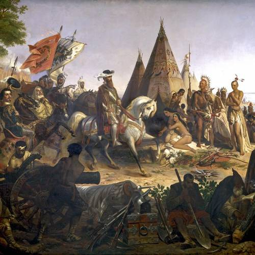 Conquistadores in nord America
