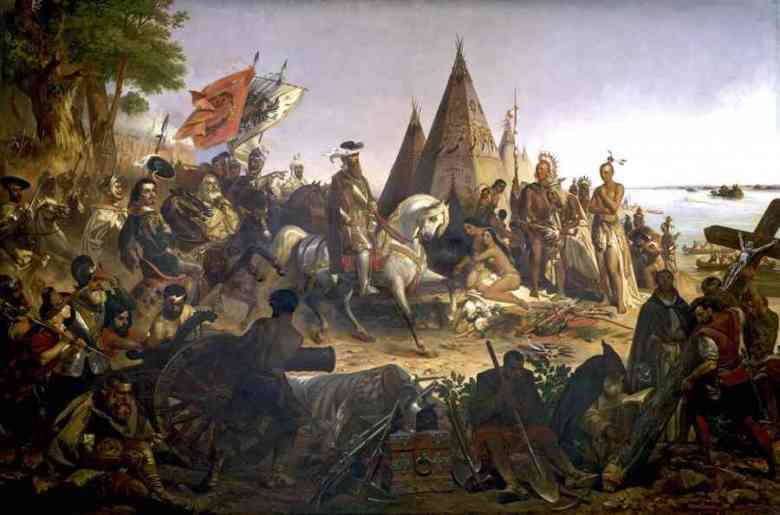 Photo of Conquistadores in nord America